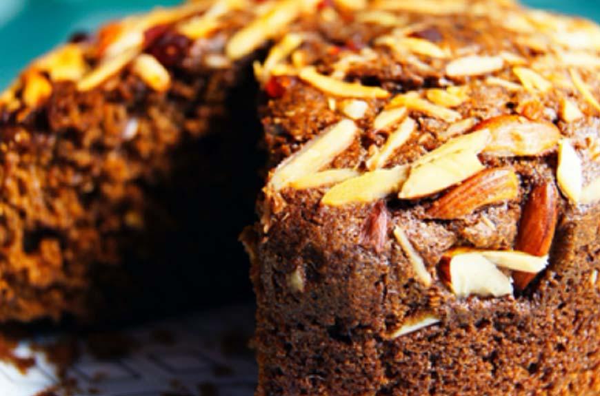 WHOLE WHEAT DRY FRUITS CAKE RECIPE