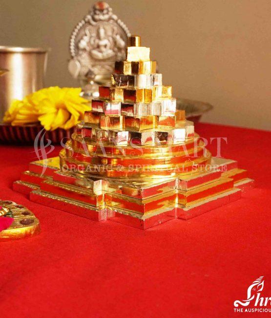 Brass Coloured Shriyantra