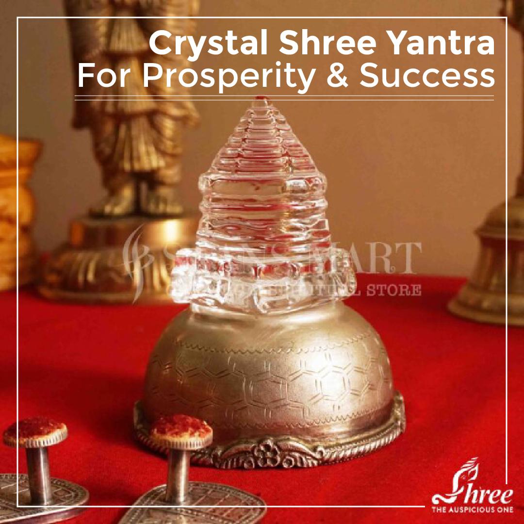 Crystal Shree Yantra For Prosperity & Success